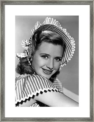 Four Mothers, Priscilla Lane, 1941 Framed Print by Everett