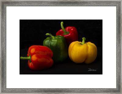 Four Peppers Framed Print by Frederic A Reinecke