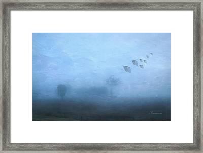 Four Seasons Winter Arrives Framed Print by Georgiana Romanovna