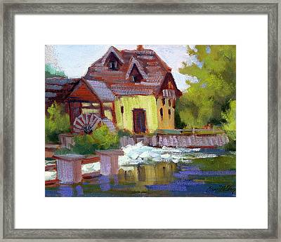 Fourge Mill Giverny Framed Print by Diane McClary