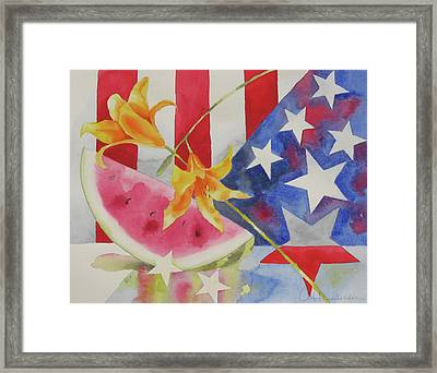 Fourth Of July Framed Print by Amy Householder