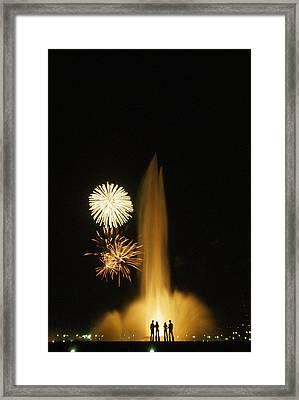 Fourth Of July Fireworks Framed Print by Lynn Johnson