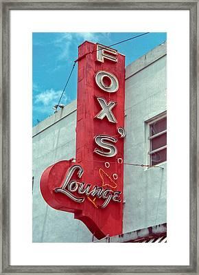 Fox's Lounge Framed Print by Matthew Bamberg
