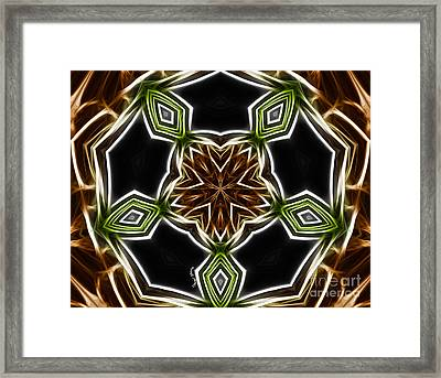 Fractal Kaleidoscope Framed Print by Cheryl Young