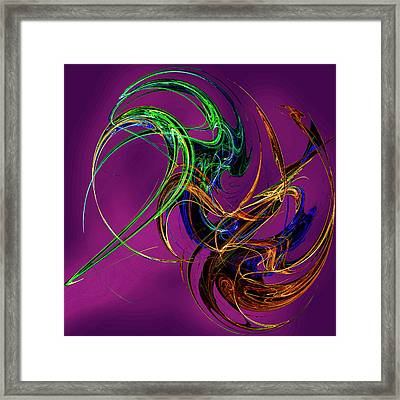 Fractal Tatoo-purple Framed Print by Michael Durst
