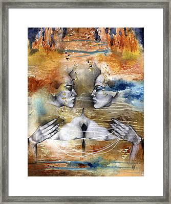 Fragmented Framed Print by Patricia Ariel