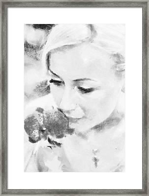 Fragrance Of Spring. Impressionism Framed Print by Jenny Rainbow