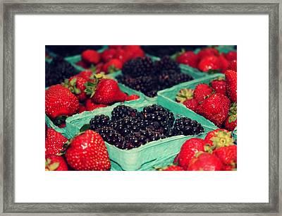 Framers Market Berries Framed Print by Cathie Tyler