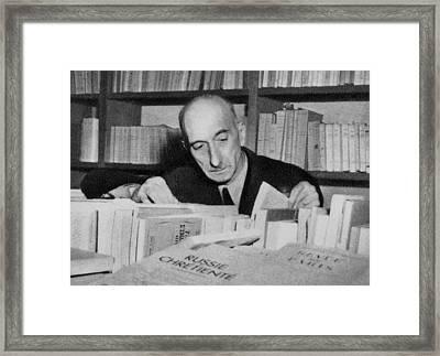 Fran�ois Mauriac 1885-1970 Winner Framed Print by Everett