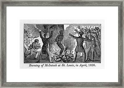 Francis L. Mcintosh, A Free Mulatto Framed Print by Everett
