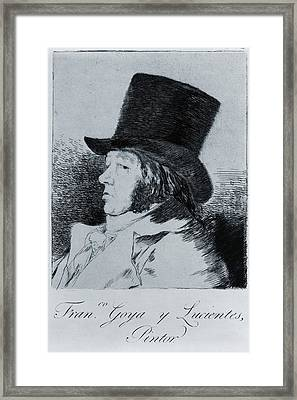 Francisco Goya 1746-1828, Self Portrait Framed Print by Everett