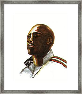 Franckie Fredericks Framed Print by Emmanuel Baliyanga