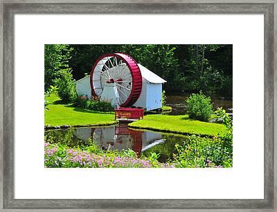Franconia Notch Waterwheel Framed Print by Catherine Reusch  Daley