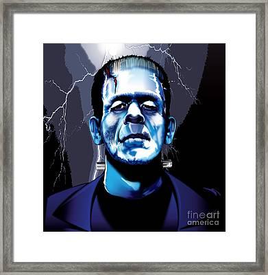 Frank Framed Print by Brian Gibbs