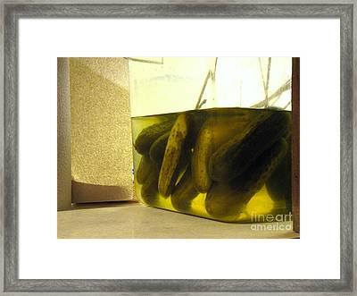 Frankenpickles Lab Framed Print by Joe Jake Pratt