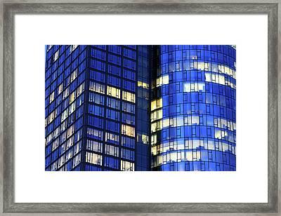 Frankfurt Skyscrapers Framed Print by Jumper
