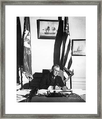 Franklin D. Roosevelt, 32nd American Framed Print by Omikron