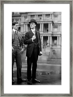 Franklin Delano Roosevelt As A Young Man - C 1913 Framed Print by International  Images