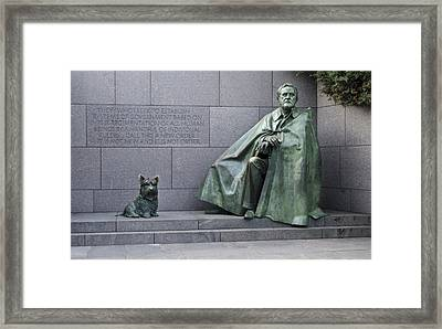Franklin Delano Roosevelt Memorial - Washington Dc Framed Print by Brendan Reals