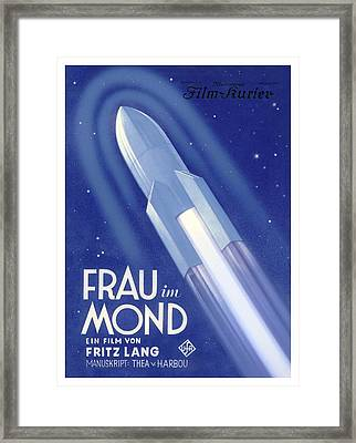 Frau Im Mond Advert, 1929 Framed Print by Detlev Van Ravenswaay