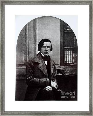 Fr�d�ric Chopin, Polish Composer Framed Print by Photo Researchers, Inc.