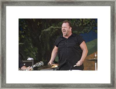 Fred Leblanc Of Cowboy Mouth Framed Print by Terry Finegan