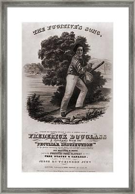 Frederick Douglass 1818-1895 Framed Print by Everett