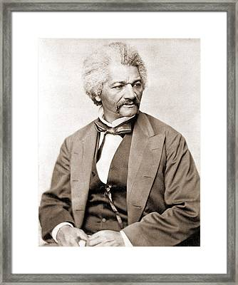 Frederick Douglass 1818-1895, Former Framed Print by Everett