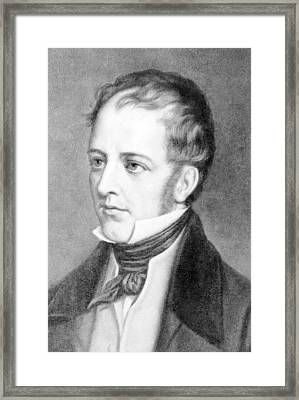 Frederick Marryat 1792-1848 English Framed Print by Everett