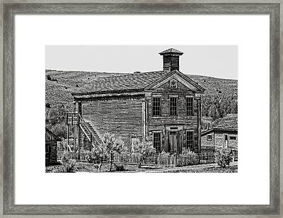 Free Masons Clubhouse - Bannack Montana Ghost Town Framed Print by Daniel Hagerman