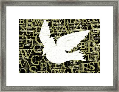 Free Your Mind Avacado Framed Print by Angelina Vick