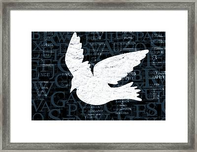 Free Your Mind Teal Framed Print by Angelina Vick