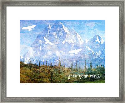 Free Your Mind Framed Print by Tia Helen