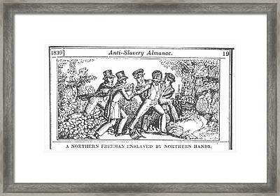 Freedman Enslaved, 1839 Framed Print by Granger