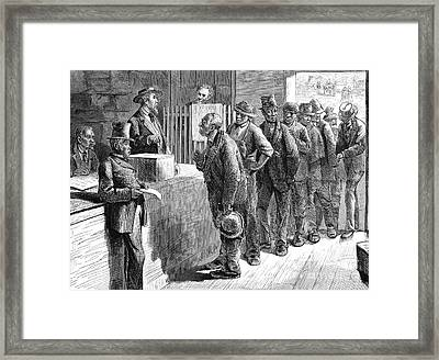 Freedmen Voting, 1871 Framed Print by Granger