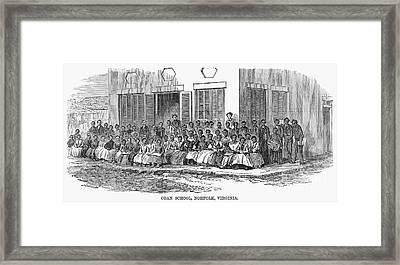 Freedmens School, 1868 Framed Print by Granger