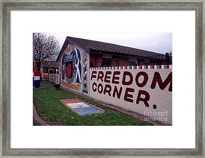 Freedom Corner Mural Framed Print by Thomas R Fletcher