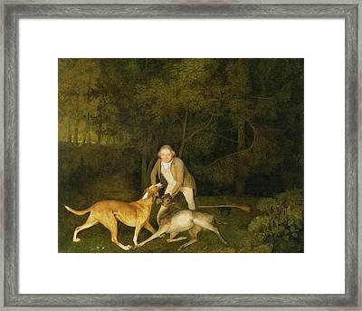 Freeman - The Earl Of Clarendon's Gamekeeper Framed Print by George Stubbs