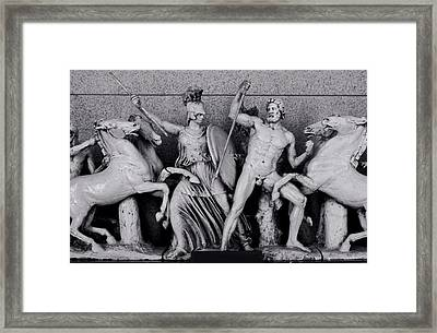 Freeze From The Parthernon 1 Framed Print by Linda Phelps