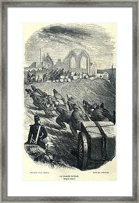 French Convicts At Hard Labor, Ca Framed Print by Everett