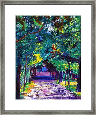 French Country Road Framed Print by David Lloyd Glover