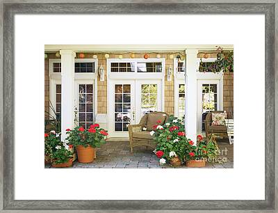 French Doors And Patio Framed Print by Andersen Ross
