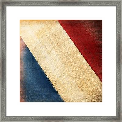French Flag Framed Print by Setsiri Silapasuwanchai