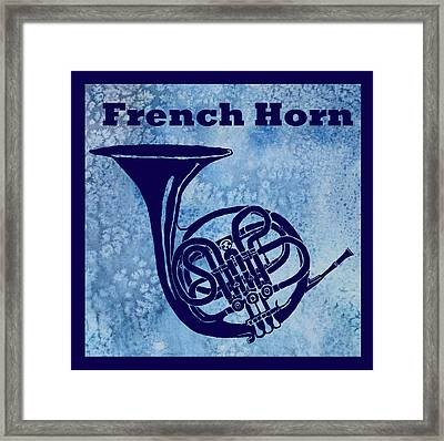 French Horn Framed Print by Jenny Armitage