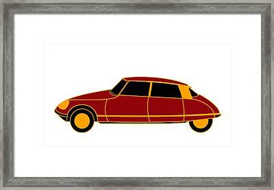 French Iconic Car - Virtual Car Framed Print by Asbjorn Lonvig