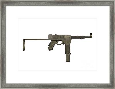 French Mat-49 Submachine Gun Framed Print by Andrew Chittock