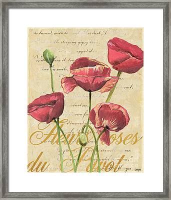 French Pink Poppies 2 Framed Print by Debbie DeWitt