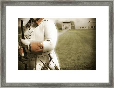 French Soldier Standing Guard Framed Print by Keith Allen