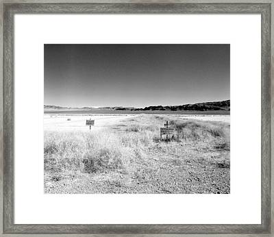 Frenchman Barricade Area 5 Framed Print by Jan W Faul