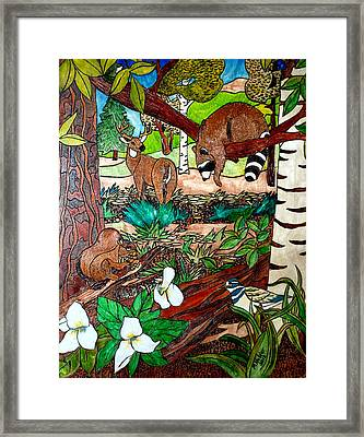 Frends Of The Forest Framed Print by Mike Holder